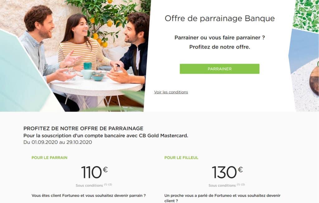 Offre exceptionnelle, jusqu'à 240€ de primes de parrainage Fortuneo